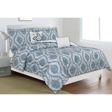Home Trends Catalog by Home Dynamix Classic Trends Blue Gray 5 Piece Full Queen Comforter