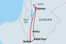 Jordan Country Map Jordan Discovery Jordan Tours Intrepid Travel Au