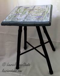 Hand Painted Furniture by Hand Painted Furniture Custom Accent Table With Botanical