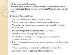 Sample Resume For Overnight Stocker by Hotel Night Auditor Job Description Resume Contegri Com