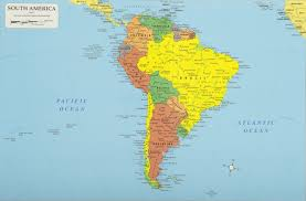South America Map And Capitals by South America Continent South America Map List Of Countries In