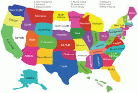 Blank State Map Of Usa by The 50 States Map Map Of Usa World