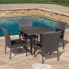 dining tables round outdoor dining table 6 person patio table