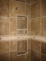 shower recessed tiled shelving and specialty band shower recess