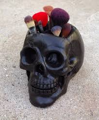 how to make a skull makeup brush holder makeup brush holders