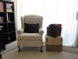 delighful wing chair slipcovers tcushion slipcover for decorating