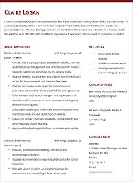 Dental Resume Samples Nutritionist Resume Resume Cv Cover Letter