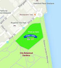 Brisbane City Botanic Gardens aflq150 picnic in the park afl queensland