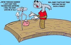 hammer and nail a love story by subwaysurfer love cartoon