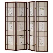 shutter room divider home decorators collection 5 83 ft cherry 4 panel room divider