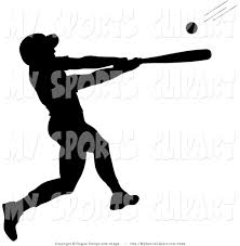 bats images clip art sports clip art of a silhouetted baseball batter by pams clipart