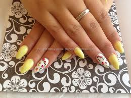 eye candy nails u0026 training acrylic nails with yellow gelish gel