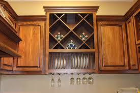 Kitchen Cabinets Plate Rack Wine Racks Burrows Cabinets Central Texas Builder Direct
