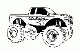 Old Ford Truck Coloring Pages - monster jam trucks coloring pages coloring pages
