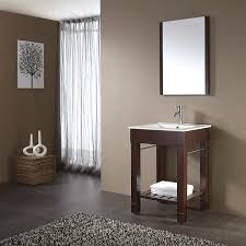Modern Walnut Bathroom Vanity by 24