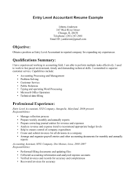 Entry Level Resume Examples by Entry Level Accountant Resume Example Foolishly Perched Gq