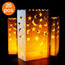 halloween pathway lights amazon com go luminary bags 20 pcs stars and moon design