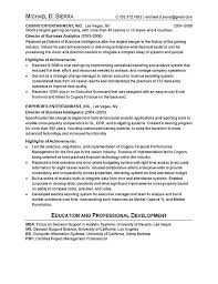 Mba Sample Resume by Chief Information Officer Cio Resume Example