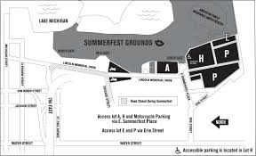 Chicago Parking Map by Getting Here Summerfest The World U0027s Largest Music Festival