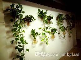 2017 glass wall terrariums hanging wall planter vase wall bowl