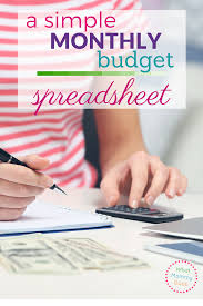 Sample Home Budget Spreadsheet Free Sample Monthly Expenses Spreadsheet What Mommy Does