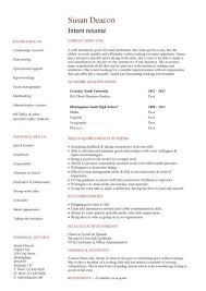 Entry Level Resume Examples by Resume Format Without Experience First Cv No Work Experience