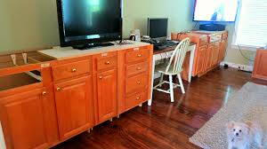 Kitchen Cabinet Bases Remodelaholic Build A Wall To Wall Built In Desk And Bookcase