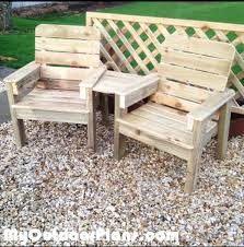 Free Wooden Garden Chair Plans by Diy Jack And Jill Chair Set Myoutdoorplans Free Woodworking