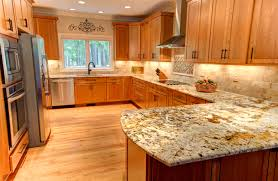Kitchen Color Ideas With Cherry Cabinets The Structure And The Color Of Oak Through Brown Color Of Its