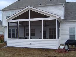 backyard decks and patios ideas screen porch with vinyl siding screened porches pinterest