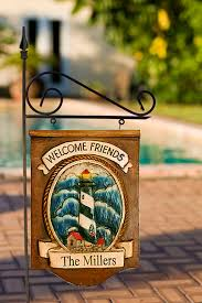 Personalized Signs For Home Decorating Personalized Yard Sign Lighthouse Decor Sign Outdoor House Signs
