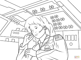 sally ride america u0027s first woman astronaut coloring page free