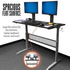Computer Desks Black by Tranzendesk Standing Desk 55 Inch Full Size Standing Desk