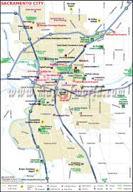 United States Map Major Cities by Sacramento City Map Ca The Capital Of California