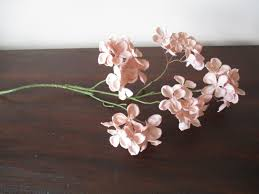Floral Arrangement Supplies by Pink Blush Hydrangea 5 Blooms Long Stem Silk Floral Supplies Diy