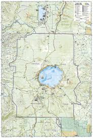 Lake Powell Map Crater Lake National Park National Geographic Trails Illustrated