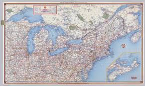 United States And Canada Map by Usa And Canada Highway Wall Map Mapscom Pins In Eastern
