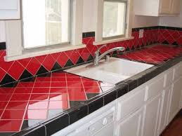 Red And Black Kitchen Ideas Captivating 40 Ceramic Tile Design Ideas Kitchen Decorating