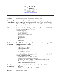 Medical Assistant Resume Objective Examples  dental assistant     happytom co