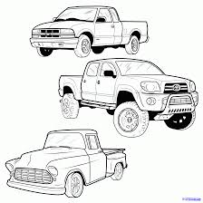 Old Ford Truck Coloring Pages - drawn truck dodge pencil and in color drawn truck dodge