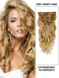 Indian Remy Human Hair Clip In Extensions by Clip In