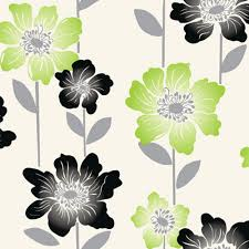 Neon Green Wallpaper by Coloroll Margarita Floral Wallpaper Lime Green Black Cream Ebay