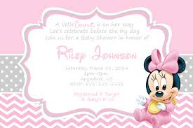 minnie mouse baby shower invitations best invitations card ideas