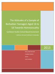 caribbean studies sample sba homosexuality sexual orientation