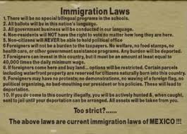 images about Immigration Laws of           on Pinterest Current immigration laws of MEXICO  Do you think they     d mind if we borrowed and adopted this material for our country  Seems fair to me
