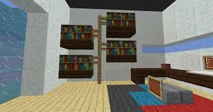 bookshelf custom bookcase minecraft cool bookcase minecraft how