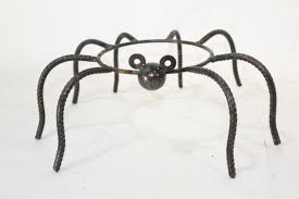 Gazing Ball Fountain Wrought Iron Small Spider Gazing Ball Holder Plant Stand