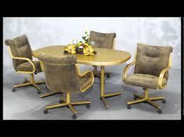Swivel Dining Room Chairs Chromcraft Dining Room Furniture Harvest Gold Chromcraft Vintage