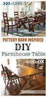 diy pottery barn inspired farmhouse table the weathered fox