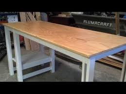 8 Foot Desk by Easy Single Sheet Plywood Desk Youtube